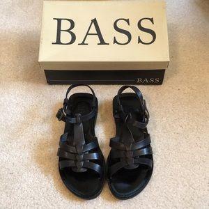 NIB Bass leather Audrey sandals
